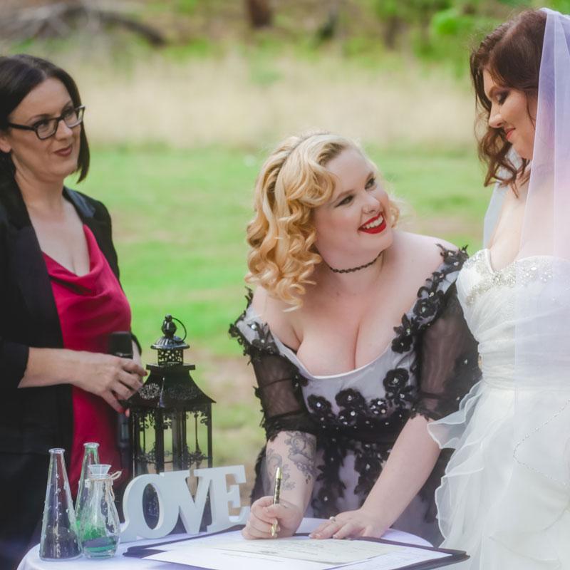 same sex wedding celebrant